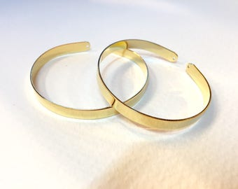 Bangle Bracelet gold fine 6mm for jewelry designs