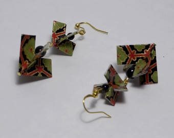 Origami hearts earrings