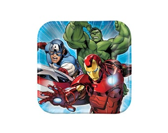 Marvel Avengers Paper Plates - 7 inch, Super Hero, Tableware, Party Supplies