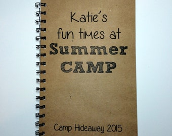 Summer Camp, Summer Camp Notebook, Kids Camp, Camp, Notebook, Camp Journal, Best Friend Gift, Notebook, gift, Sketchbook, Diary