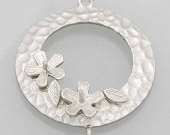 x 1 round hammered art deco silver chandelier matte.
