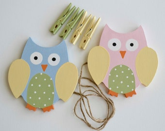 Owl Artwork Hanger, Art Display, Organizer