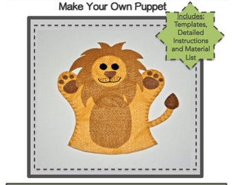 PDF Template Download - Lion Hand Puppet