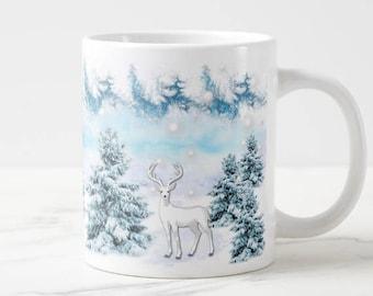 Winter wonderland reindeer mug