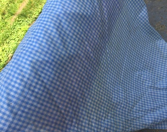BLUE and WHITE Check Cotton Dorothy's Dress Fabric Yardage 45""