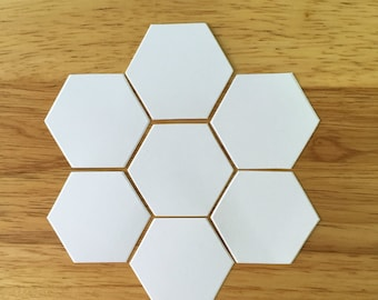 "Beehive Hexagon Die Cuts, 1"" Hexagon Paper Pieces, English Paper Piecing, Quilting supply, Sewing supplies"