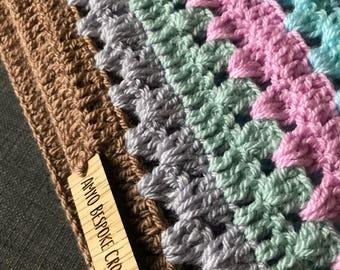 Pastel Pop Crochet Baby Blanket