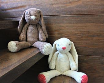 MADE TO ORDER - Plush Bunny - stuffed plush bunny - amigurumi - crochet Bunny rabbit - bunny crochet - knit bunny rabbit stuffed toy
