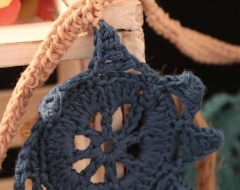 Crochet Garland, Star Garland, Cotton Garland, Wall Decor, Crochet Bunting, Bunting, Cotton Bunting, Wedding Bunting, Home Decor, Star Decor