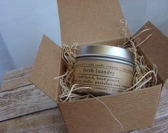 FRESH LAUNDRY. Soy Candle. Scented Candle. Natural Candle. Gift. Ready to Gift.