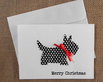 Scottie Christmas Cards, Christmas Cards Set,  Holiday Card Set, Blank Card Set, Holiday cards, Christmas Cards