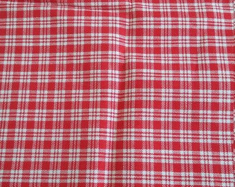 1 big red checked cotton coupon