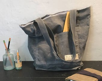 Waxed Canvas Tote Bag / Canvas Tote