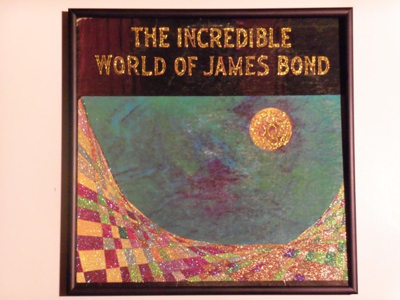 Glittered Record Album - The Incredible World of James Bond - Soundtrack