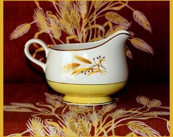 Century Service Corp. Autumn Gold Pattern Sauce - Gravy Boat, 22 Karat Gold Trim, Vintage - 1950's