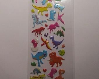 children's stickers 16cmx7cm childlike dinosaur