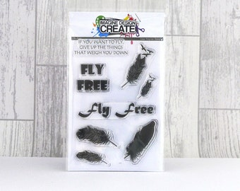 Fly Free A6 stamp set