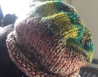 Hand-knitted Ladies Chunky Slouch Hat