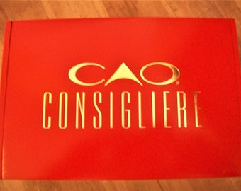 Empty Wooden Cigar Box - Consigliere - Red Box