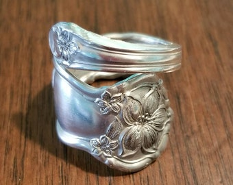 Antique Wm. Rogers & Son 1910 Orange Blossom Floral Spoon Ring
