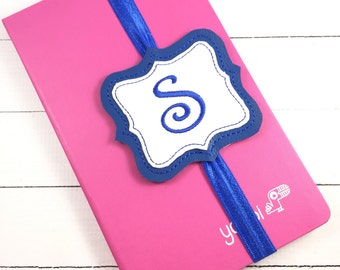 Back to school planner band - monogram bookmark accessory - planners- bullet journal accessories -teachers gift