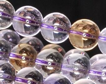 6MM Sassy Ametrine Gemstone Grade AA Purple Yellow Round 6MM Loose Beads 15.5inch Full Strand (90114341-123)