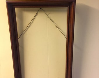 Vintage Picture Frame Mid-Century Modern Gilt Wood Picture Mirror Frame GC