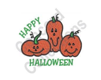 Halloween - Machine Embroidery Design, Pumpkins - Machine Embroidery Design