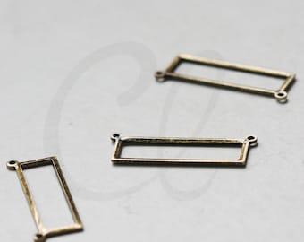 4 Pieces Antique Brass Rectangle Link - 25x8mm (3097C-G-348)