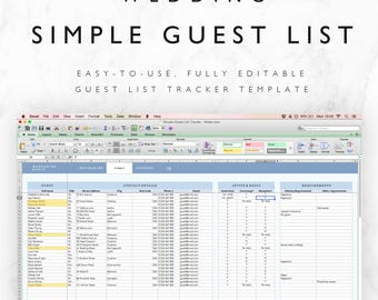 printable wedding guest list template pdf