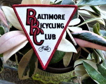 Baltimore Bicycling Club ...  Old Maryland Bicycle Riding Souvenir Patch --  Cycling