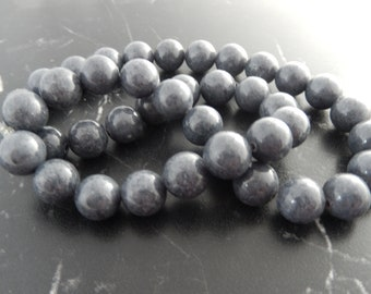 10 pearls 10mm gray Jade ref 653