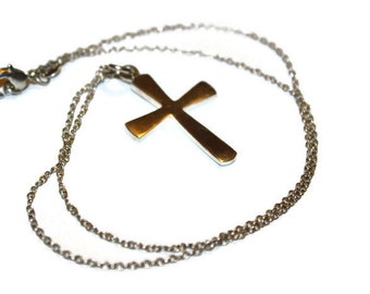 Vintage Sterling Cross Necklace 18 inches