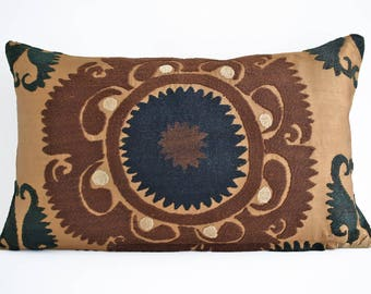 SALE! 16x16 12x20 Vintage Handmade Suzani Pillow Cover, Suzani Pillow, Uzbek Suzani, Suzani Throw, Boho Pillow, Suzani, Decorative pillows