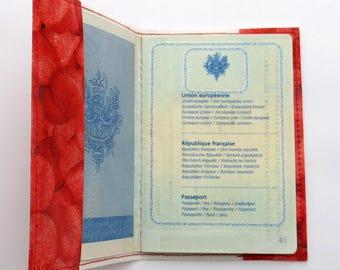 Strawberry candy oilcloth Passport