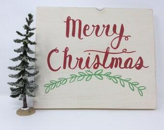 REDUCED PRICE, Merry Christmas Sign, Christmas Decor, Wood Christmas Sign