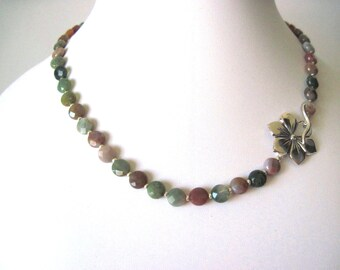 Jasper   necklace     Fancy jasper