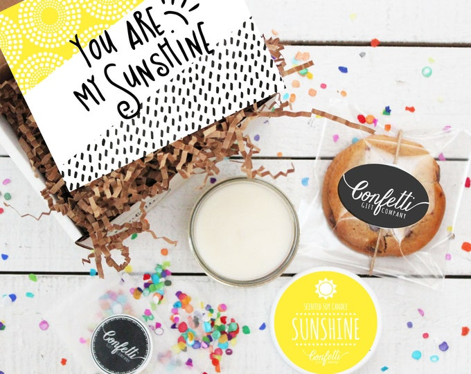 Mini You Are My Sunshine Gift Box- Get Well Gift | Thank You Gift | Friend Gift | Send a Gift | Thinking of You Gift