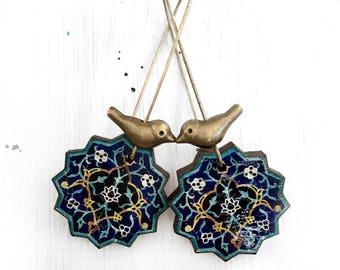 SAHAR earrings - Persian tile pattern - Persian gift - Oriental