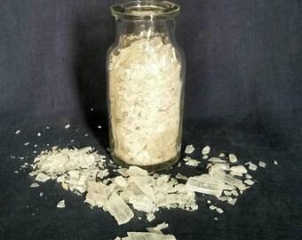 Small Selenite Crystal Chips  / Glass Bottle w/Cork Raw Selenite Crystals / White Raw Crystal Selenite Gemstones / Selenite Gypsum Powder