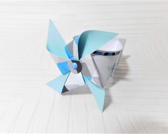 A CUSTOMISABLE windmill napkin: Star Theme