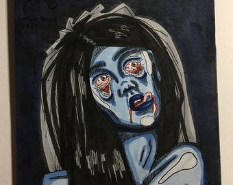 "Bloody Blues Original 4.75""x4.125"" Drawing"