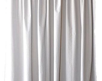 Light Gray Velvet Fabric 72 Inch H Curtain Long Panel Home Living Room Bedroom Window Treatment Door Cover Display Drape Discount Store Sale