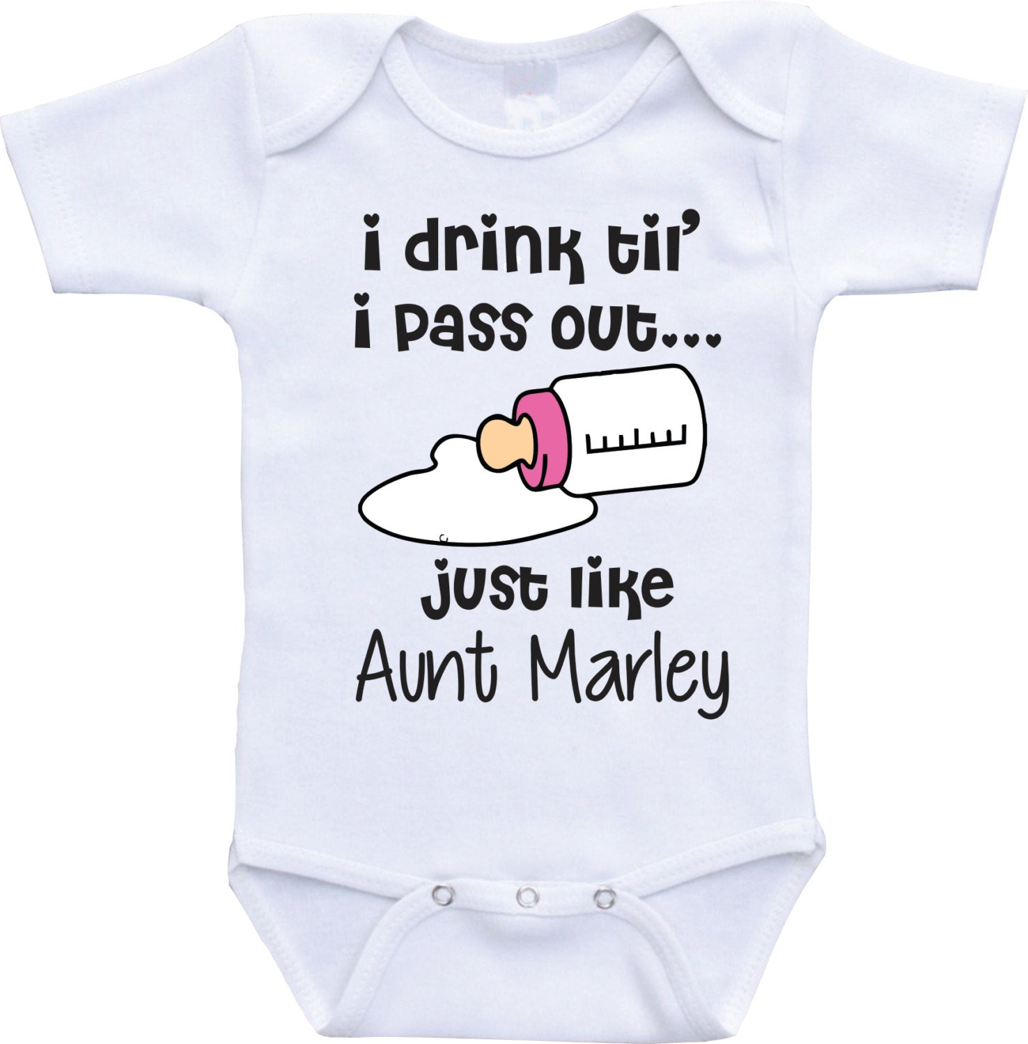 I drink until i pass out funny baby onesies aunt and niece