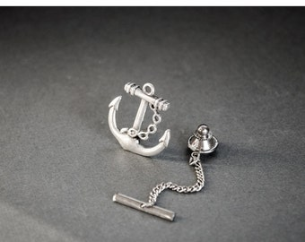 Anchor Tie Tack Nautical Neo Map Steampunk Tie Tack Anchor Gifts Anchor Lapel Pin Gifts for Him Men's Gifts Father's Day Gift