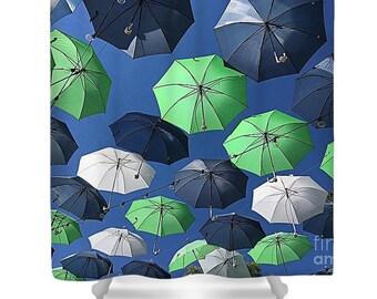 """Shower Curtain """"Gone Umbrellas"""""""
