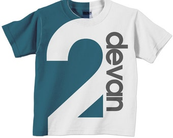 Perstonalized Number Shirt, Childrens Birthday T-Shirt, Boy or Girl, 1st 2nd 3rd 4th 5th 6th 7th 8th 9th Birthday