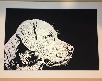 Labrador dog Paper Cut