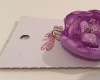 Purple Fleur Charm