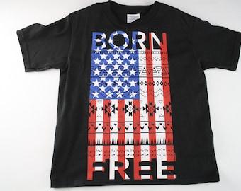 Born free USA t-shirt